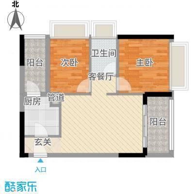 天烽新地74.00㎡C3户型2室2厅
