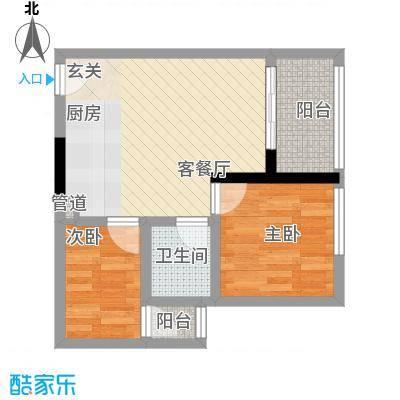 天烽新地56.50㎡C2户型2室2厅