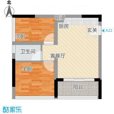 天烽新地55.40㎡C1户型2室2厅