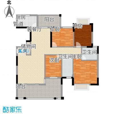 东江学府二期163.00㎡户型3室