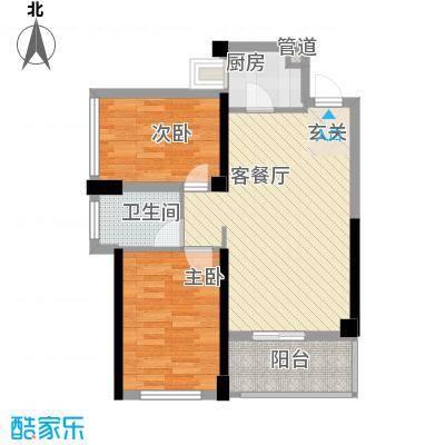 红花湖丽苑户型2室