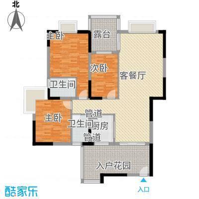 红花湖丽苑户型3室