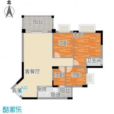 怡康花园户型3室