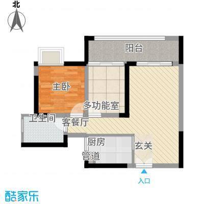 泰豪绿湖新村37.00㎡户型1室