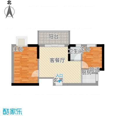 益鑫大厦57.20㎡户型2室1厅1卫1厨