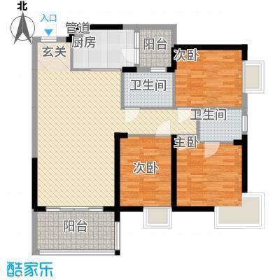 世纪铂爵11.18㎡3单元1户型3室2厅2卫