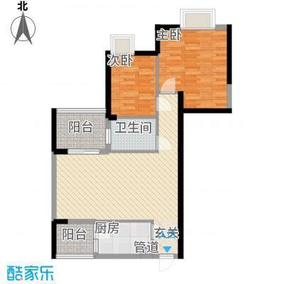 世纪铂爵86.68㎡3单元3户型2室2厅1卫