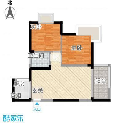 世纪铂爵7.86㎡1单元5户型2室2厅1卫