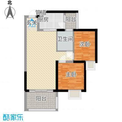 世纪铂爵85.30㎡1单元1户型2室2厅1卫