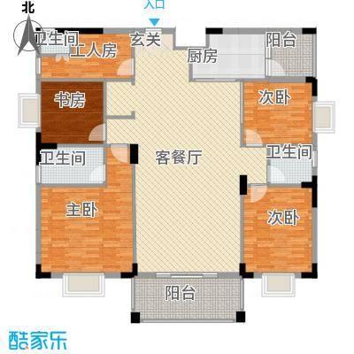 宏新富苑117.00㎡户型3室