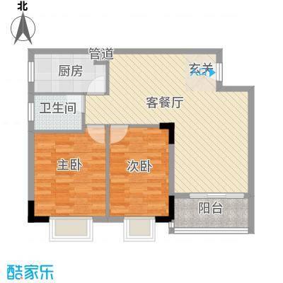 锦绣豪苑7.50㎡锦绣前城A1户型2室2厅1卫1厨
