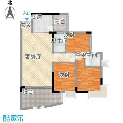金辉新苑128.00㎡户型3室