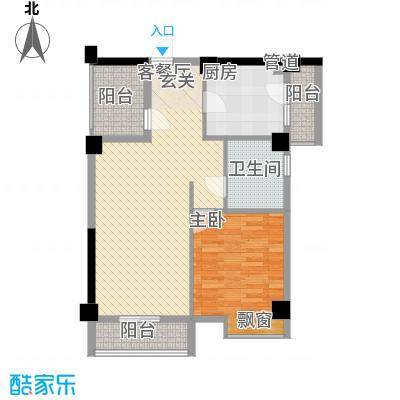 招商花园城45.30㎡D户型1室1厅1卫1厨