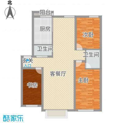 耀江五月花苑133.20㎡P户型3室2厅2卫