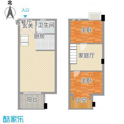 美林雅苑128.00㎡户型3室