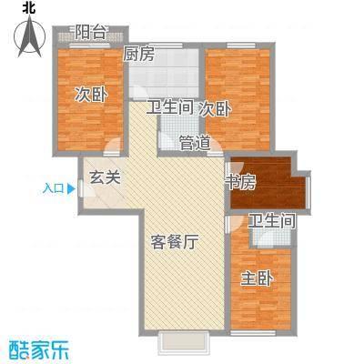 四环花园1户型4室2厅1卫1厨