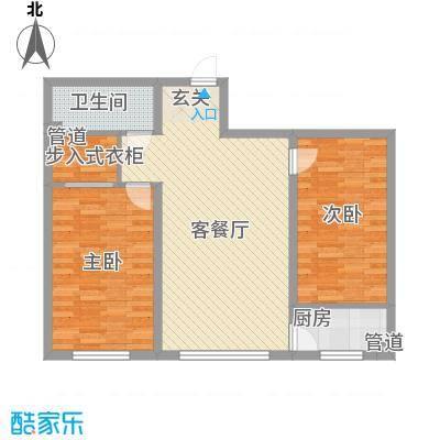 四环花园1户型2室2厅1卫1厨