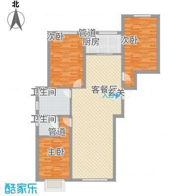 四环花园1户型3室2厅1卫1厨