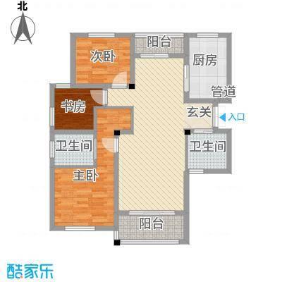 雍景苑118.00㎡小高层J户型3室2厅2卫1厨