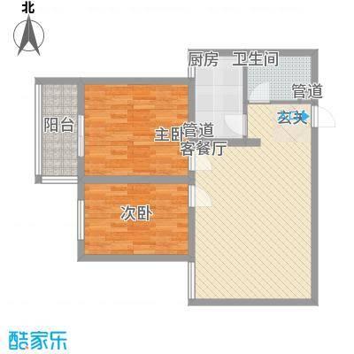 燕丰园85.53㎡6号楼B户型2室2厅1卫1厨