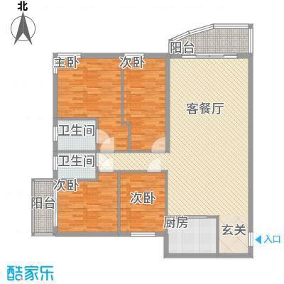 博雅苑154.00㎡户型4室