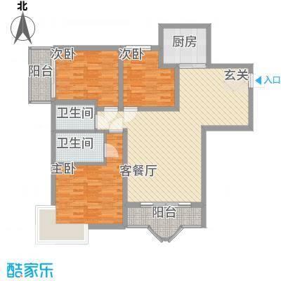 博雅苑126.00㎡户型3室