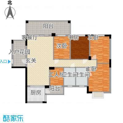幸福家园183.00㎡户型4室