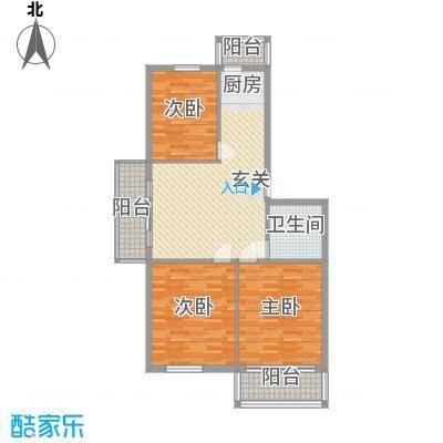 民生家园17.70㎡台北阳光2户型3室1厅1卫