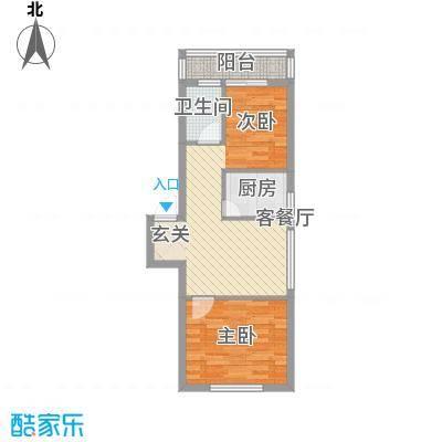 风华新苑65.63㎡6户型