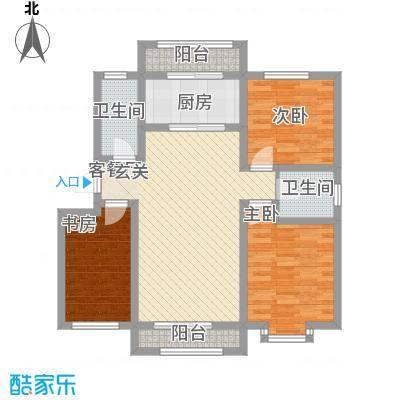 尚港华府高层10号楼标准层H户型