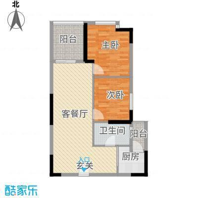 云天华庭85.00㎡户型3室