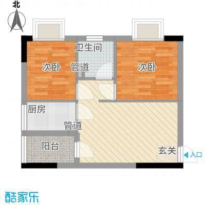 天明豪庭户型2室1厅1卫1厨