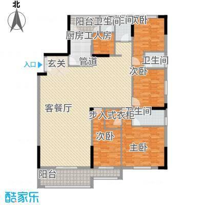 顺丰翠园211.00㎡4栋03单位户型5室2厅4卫1厨
