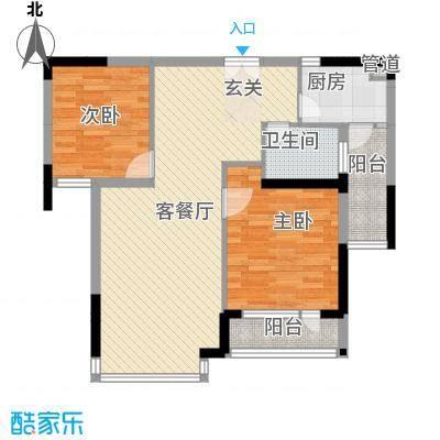 愉翠雅园75.00㎡户型