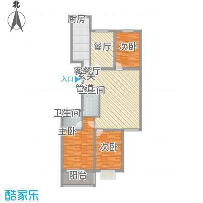 郦苑国际花园二期156.17㎡15617户型3室2厅2卫1厨