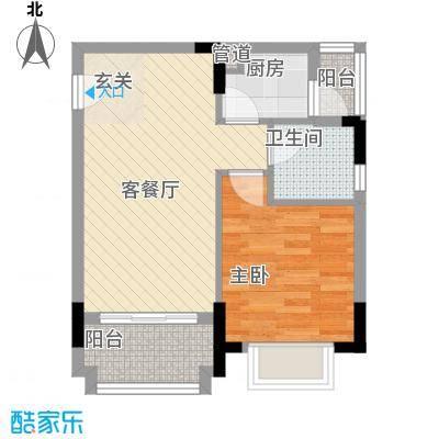 阳光粤港三期56.70㎡30栋3层03户型1室2厅1卫1厨