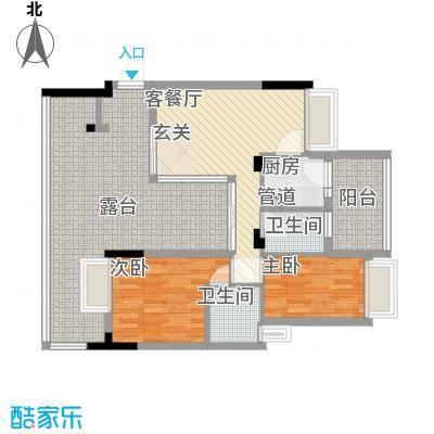 城东名门3.46㎡3栋3座03户型3室2厅2卫1厨