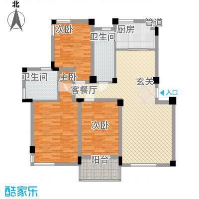 龙兴苑135.00㎡户型3室
