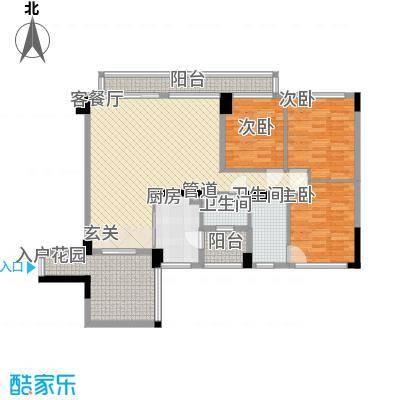 城东名门138.80㎡1栋1座02单位户型3室2厅2卫1厨