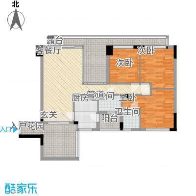 城东名门138.80㎡1栋1座02单位交楼平面图户型3室2厅2卫1厨