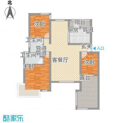 首创隽府127.00㎡三期36#3层C户型3室2厅2卫