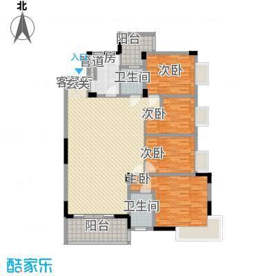 中铭豪园148.40㎡19D户型4室2厅2卫1厨