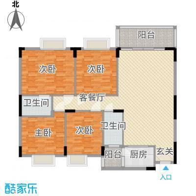 中铭豪园146.76㎡19A户型4室2厅2卫1厨
