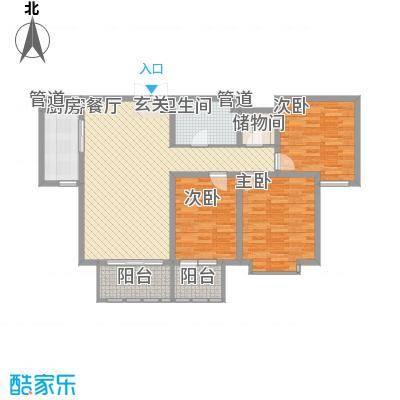 华夏・铂宫133.18㎡12#E1a户型