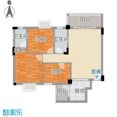 龙日花苑户型3室