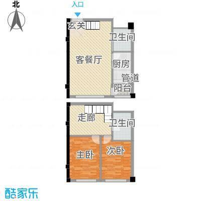 碧海尚城122.00㎡6#复式户型2室2厅2卫1厨