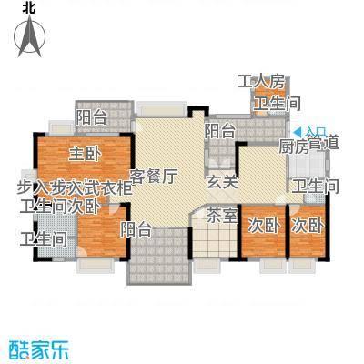 骏景豪庭276.55㎡1―3号楼D户型6室2厅4卫