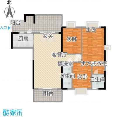 骏景豪庭161.25㎡1―3号楼B户型3室2厅2卫