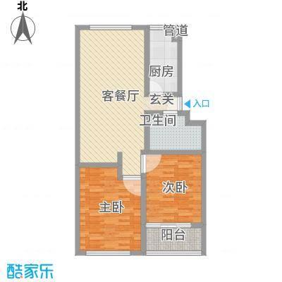 春天花园88.20㎡户型2室