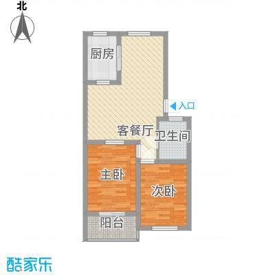 天建天和园78.00㎡11号楼户型2室2厅1卫